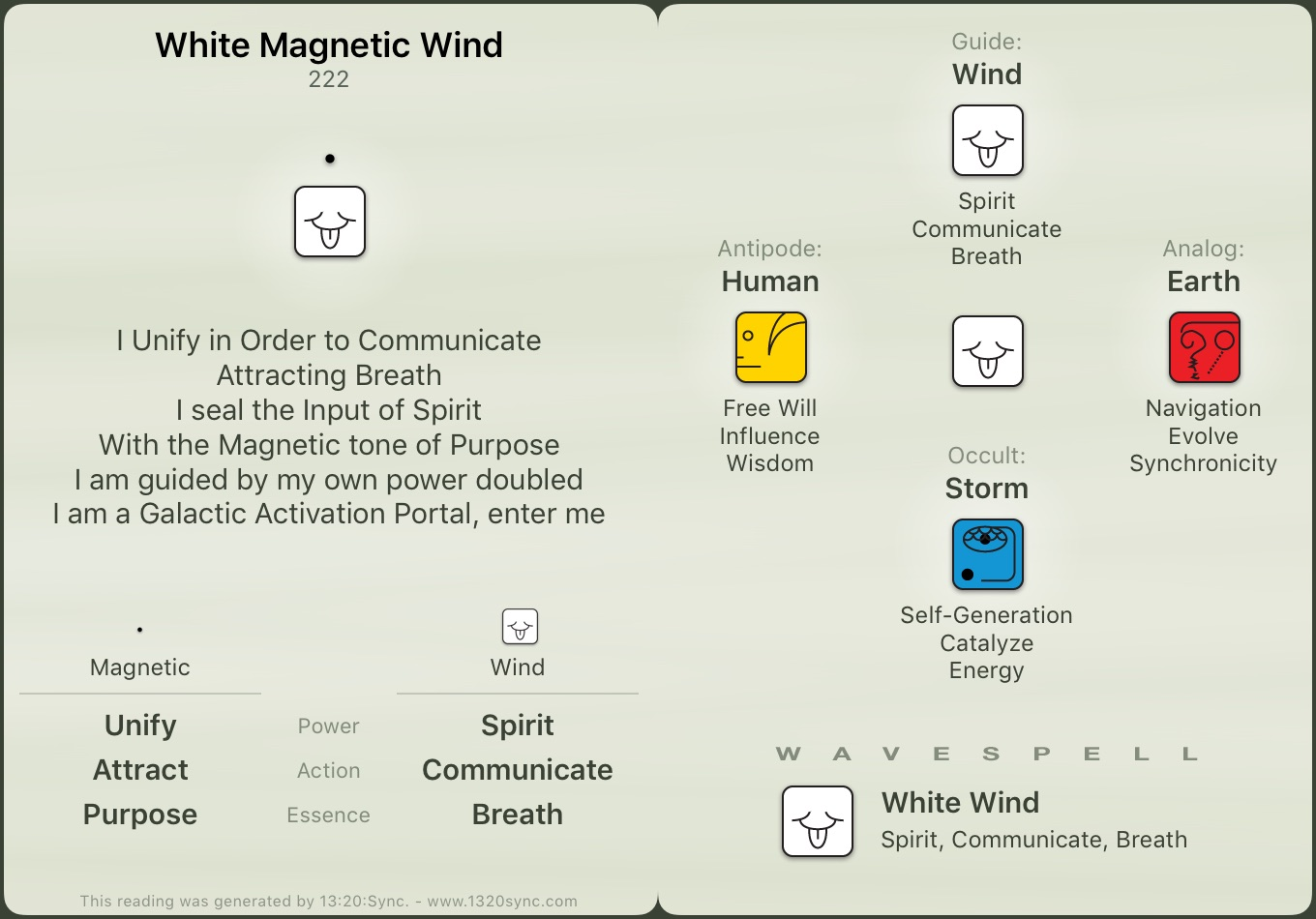 White Wind Wavespell – 13 Moon Peace Time Blog